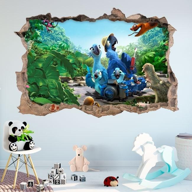 Adesivi da parete 3D fiume 2
