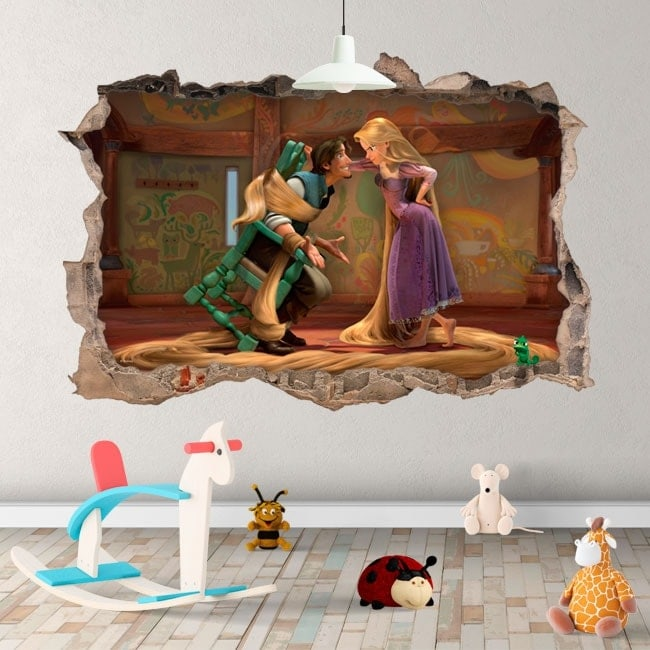 Vinili per bambini Tangled Rapunzel 3D Disney