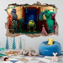 Vinili per bambini mostro universitario 3D