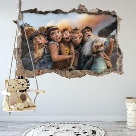 Vinili per bambini 3D I Croods