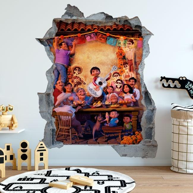 Adesivi decorativi disney pixar coco for Adesivi decorativi