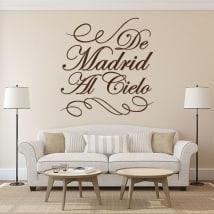Vinile decorativo di Madrid al paradiso