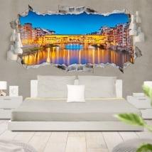 Vinile 3D panoramica Firenze Italia