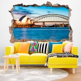 Vinile decorativo Sydney Australia 3D