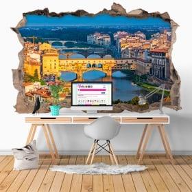 Vinile decorativo ponte vecchio Firenze Italia 3D