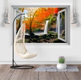 Adesivi finestre cascate Heo Suwat 3D