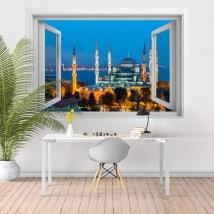 Vinili moschea blu o Sultan Ahmed Istanbul 3D