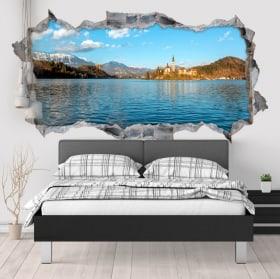 Vinile decorativo lago di Bled in Slovenia 3D
