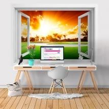 Vinili finestra Tramonto 3D