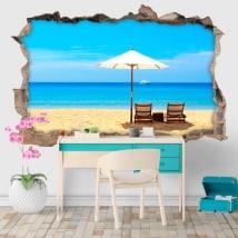 Vinile decorativo giornate di spiaggia 3D