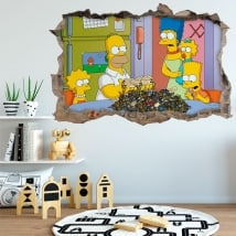 Adesivi pareti The Simpsons 3D