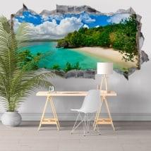Vinile pareti Grande Laguna Filippine Isole 3D