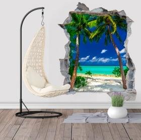 Vinili di palme Grande Laguna Filippine Isole 3D