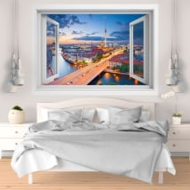Vinile decorativo tramonto Berlino Germania 3D