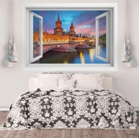 Vinile pareti ponte Oberbaum Berlino 3D