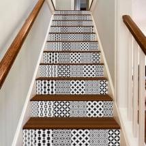 Vinile decorativo piastrelle per scale