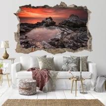 Vinile decorativo tramonto Rocky Beach Bulgaria 3D