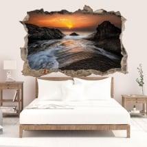 Decalcomania della parete alba costa del mar nero 3D