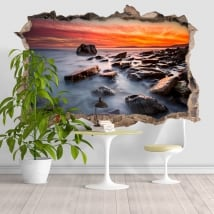 Sticker murale Rocky Beach 3D