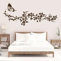 Vinile decorativo farfalla e fiori