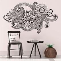 Sticker murale fiori vintage tribali