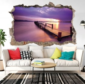Sticker murale colori del tramonto 3D