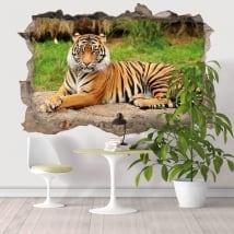 Sticker murale tigre del Bengala 3D
