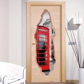Vinile decorativo porte Londra 3D