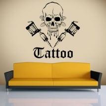 Vinile decorativo tatuaggio teschio