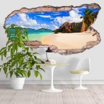 Vinili spiaggia Anse Source D'Argent Seychelles 3D