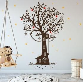 Vinile decorativo infanzia casa sull'albero