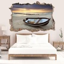 Vinile decorativo alba sulla spiaggia 3D