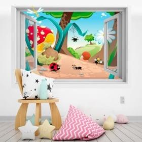 Vinile per bambini foresta 3D