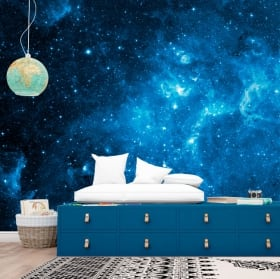 Murales in vinile stelle nel cosmo 3D