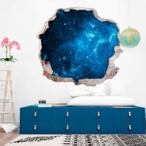 Adesivi murali stelle nel cosmo 3D