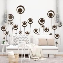 Sticker murale fiori di cerchi