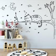 Adesivi murale gatto addormentato