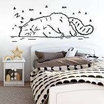 Adesivi pareti pisolino del gatto