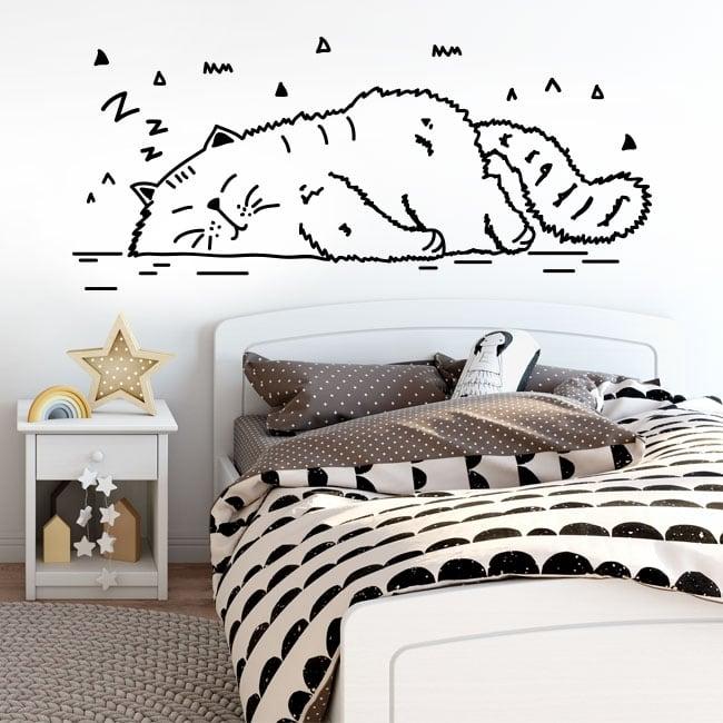 Adesivi pareti pisolino del gatto for Adesivi x pareti