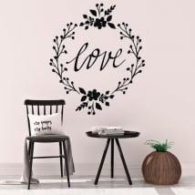 Sticker murale amo i fiori