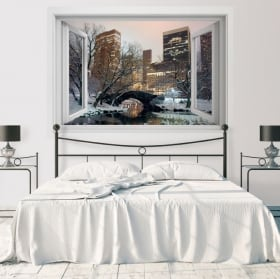 Vinili finestra Central Park New York 3D