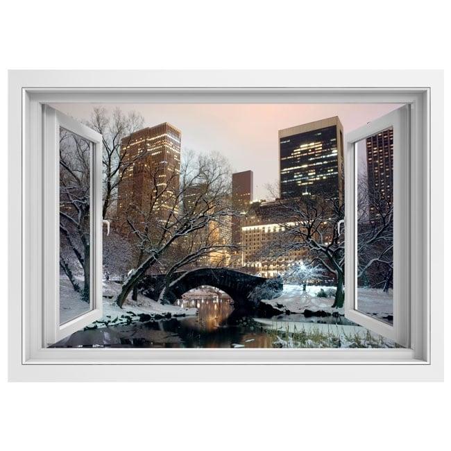 Vinili finestra central park new york 3d for Finestra new york