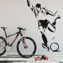 Sticker murale giocatore di calcio