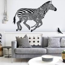 Vinile decorativo muro zebre
