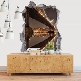 Vinili muri ponte di New York Manhattan 3D