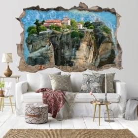 Vinili monasteri di Meteora Grecia 3D