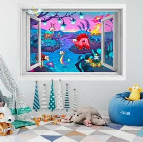Vinile per bambini fantasia animale 3D