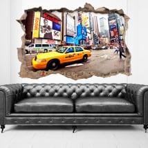 Adesivi città New York 3D