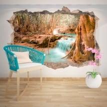 Vinile decorativo cascata natura 3D