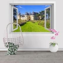 Sticker murale castello di Chenonceau Francia 3D